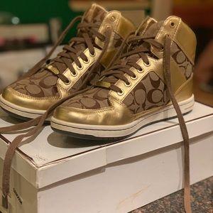 Coach Sneakers / Norra Gold High Top Sneaker